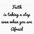 Faith Is Taking A Step - To All You Princesses