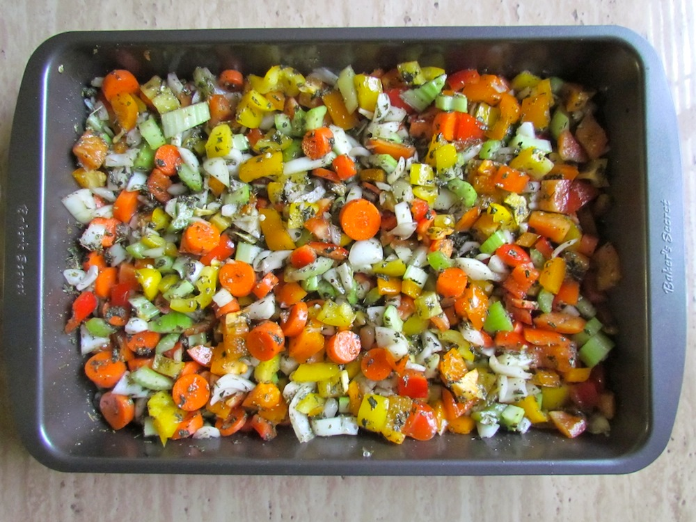 Adding Vegetables to Marinade