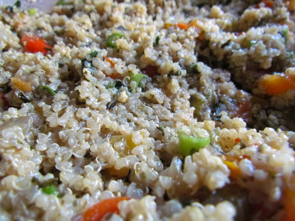 Finished Quinoa and Baked Veggie Dish