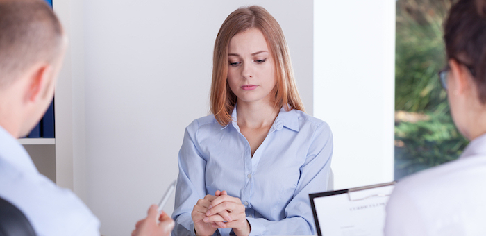 Girl Stressed on Interview
