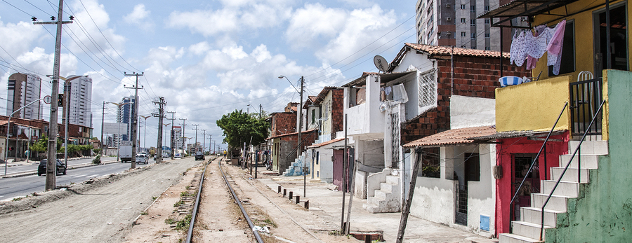 FORTALEZA BRAZIL - NOV 05: Community of the city center that will be expropriated and removed because of the World Cup 2014 on November 05 2013 in Fortaleza Brazil