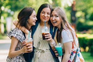 Friends Having Milkshakes